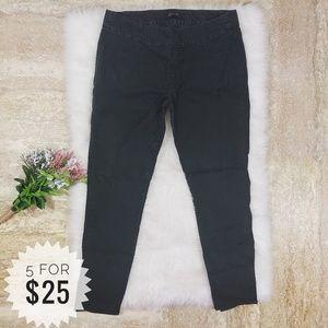 Seven7 Jeans Black Size 16 Skinny Pull On C15